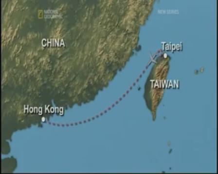 China Airlines Flight Map on